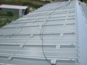 木津川市工場屋根太陽光発電設置1