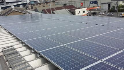 大阪市大正区 倉庫 太陽光発電29.76kW設置