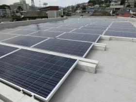 斑鳩町マンション屋上太陽光発電設置1-2