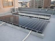 東大阪市社屋太陽光発電設置1