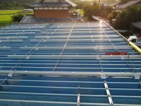 木津川市農業用倉庫屋根太陽光発電設置1-2