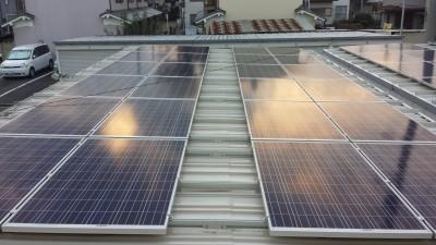 斑鳩町車庫太陽光発電設置1-2