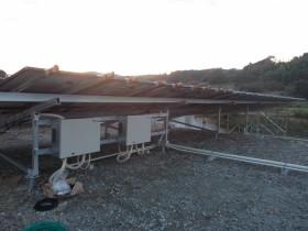 吉野郡空地太陽光発電設置2-3