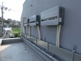 斑鳩町マンション屋上太陽光発電設置1-3