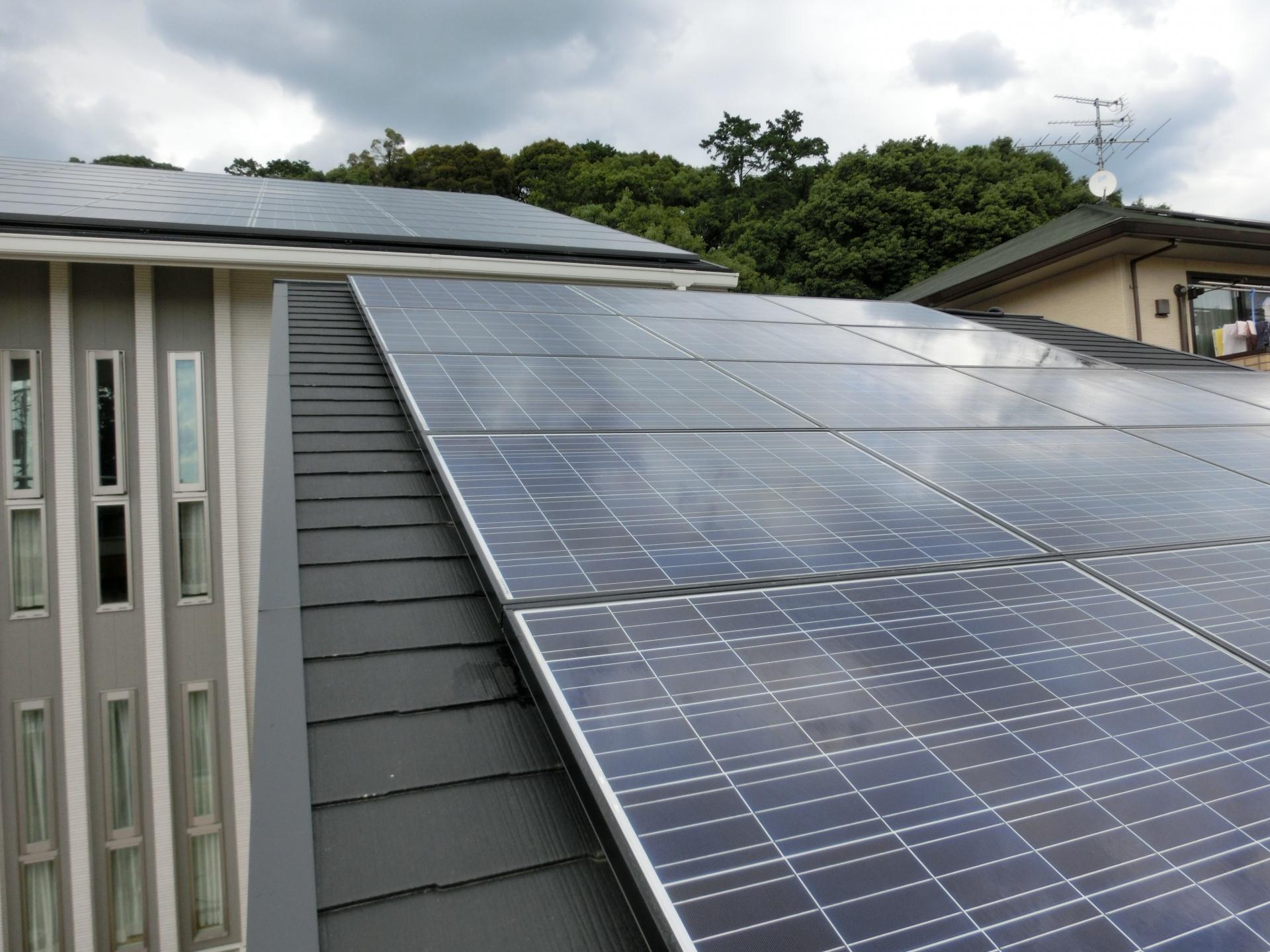 天理市自宅屋根太陽光発電設置1-3