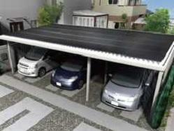カーポート型太陽光発電例